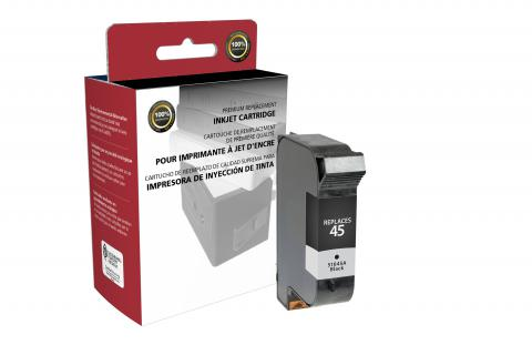 Specialty Ink Remanufactured Postage Meter Standard Black Ink Cartridge for HP C51645A