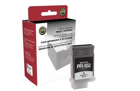 Clover Remanufactured Black Ink Cartridge for Canon PFI-102