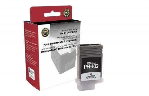 Clover Remanufactured Matte Black Ink Cartridge for Canon PFI-102