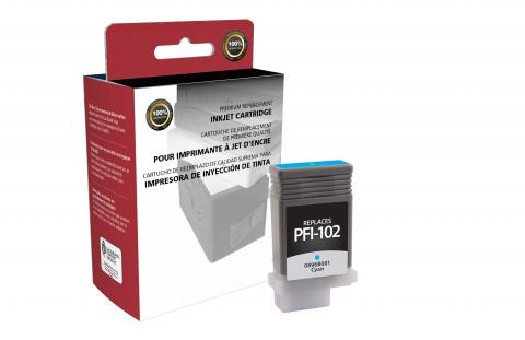 Clover Remanufactured Cyan Ink Cartridge for Canon PFI-102
