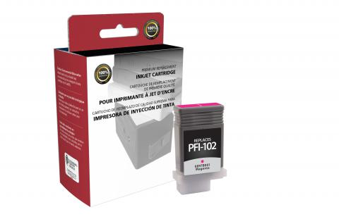 Clover Remanufactured Magenta Ink Cartridge for Canon PFI-102
