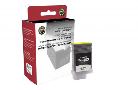 Clover Remanufactured Yellow Ink Cartridge for Canon PFI-102