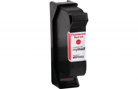 Specialty Ink Remanufactured Postage Meter Fluorescent Red Ink Cartridge for Franco-Postalia MIC 580032002200