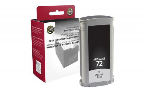 CIG Remanufactured Gray Ink Cartridge for HP C9374A (HP 72)