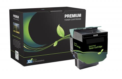 MSE Remanufactured High Yield Black Toner Cartridge for Lexmark CX410/CX510