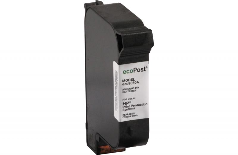 ecoPost Remanufactured Aqueous Black Ink Cartridge for HP C9050A