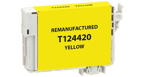 EPC Remanufactured Yellow Ink Cartridge for Epson T124420