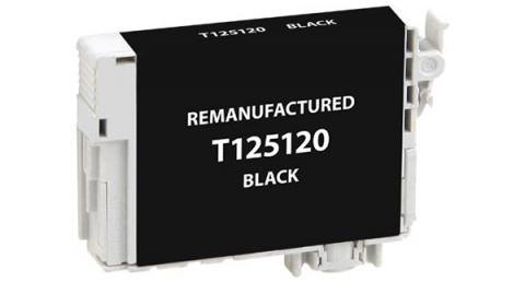 EPC Remanufactured Black Ink Cartridge for Epson T125120