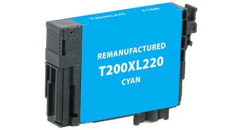 Epson Remanufactured High Yield Cyan Ink Cartridge for Epson T200XL220