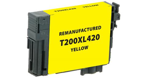 Epson Remanufactured High Yield Yellow Ink Cartridge for Epson T200XL420