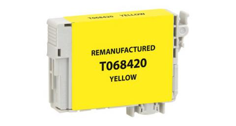 EPC Remanufactured High Yield Yellow Ink Cartridge for Epson T068420