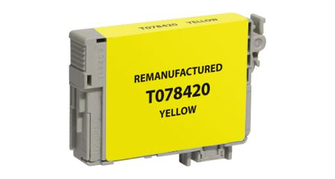 Epson Remanufactured Yellow Ink Cartridge for Epson T078420