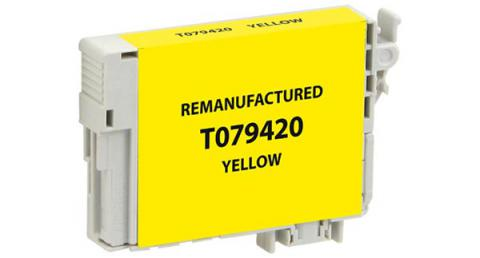 EPC Remanufactured High Yield Yellow Ink Cartridge for Epson T079420
