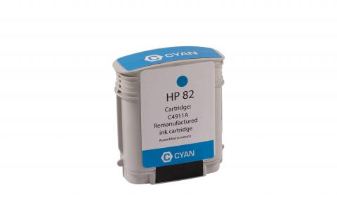 XPT Remanufactured High Yield Cyan Wide Format Ink Cartridge for HP C4911A (HP 82)