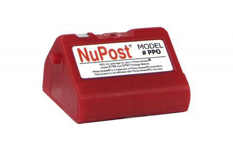 NuPost Non-OEM New Postage Meter Red Ink Cartridge for Pitney Bowes 769-0