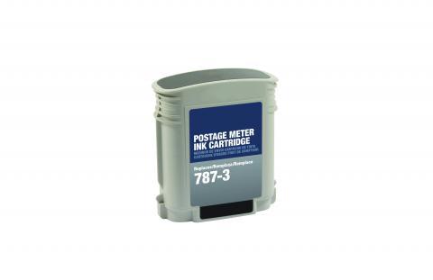 ecoPost Remanufactured Postage Meter Black Ink Cartridge for Pitney Bowes 787-3
