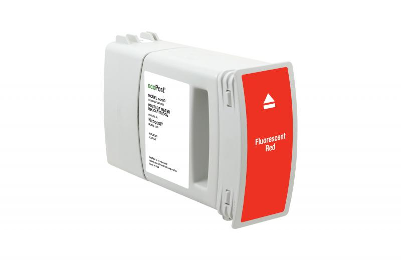 ecoPost Remanufactured Postage Meter Red Ink Cartridge for NeoPost 4127175Q