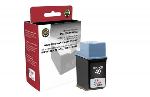 Clover Imaging Remanufactured Tri-Color Ink Cartridge for HP 51649A (HP 49)