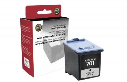 Clover Imaging Remanufactured Black Ink Cartridge for HP CCC635A (HP 701)