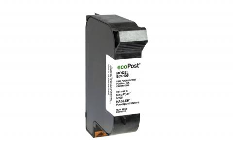 ecoPost Non-OEM New Postage Meter Red Ink Cartridge Twin Pack for NeoPost 8100032H