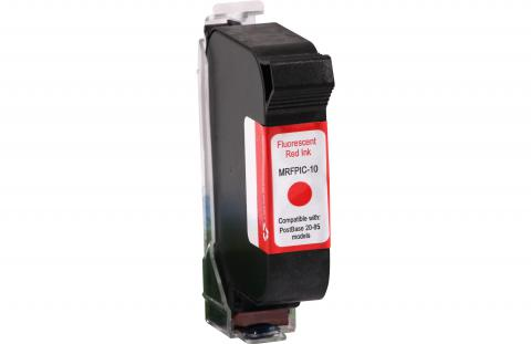 Specialty Ink Remanufactured Postage Meter Fluorescent Red 2 Pack Ink Cartridge for Franco-Postalia PIC10