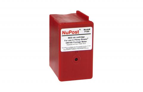 NuPost Remanufactured Postage Meter Red Ink Cartridge for Pitney Bowes 793-5