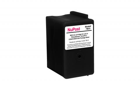 NuPost Remanufactured Postage Meter Red Ink Cartridge for Pitney Bowes SL-798-0