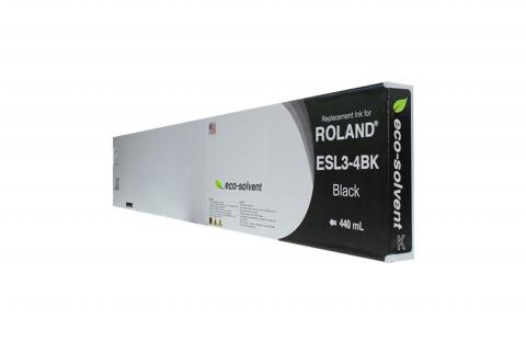WF Non-OEM New Black Wide Format Inkjet Cartridge for Roland ESL3-4BK