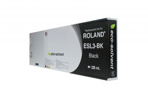 WF Non-OEM New Black Wide Format Inkjet Cartridge for Roland ESL3-BK