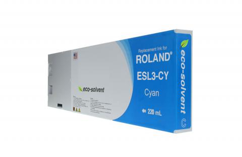 WF Non-OEM New Cyan Wide Format Inkjet Cartridge for Roland ESL3-CY
