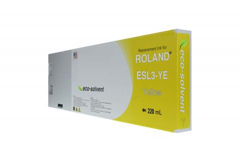 WF Non-OEM New Yellow Wide Format Inkjet Cartridge for Roland ESL3-YE