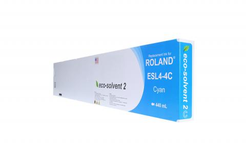WF Non-OEM New Cyan Wide Format Inkjet Cartridge for Roland ESL4-4C