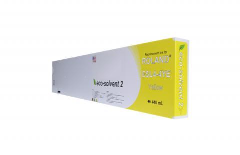 WF Non-OEM New Yellow Wide Format Inkjet Cartridge for Roland ESL4-4YE