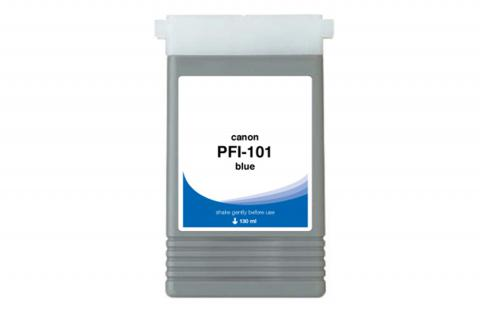 WF Non-OEM New Blue Wide Format Ink Cartridge for 0891B001AA (PFI-101B)