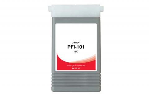 WF Non-OEM New Red Wide Format Ink Cartridge for 0889B001AA (PFI-101R)