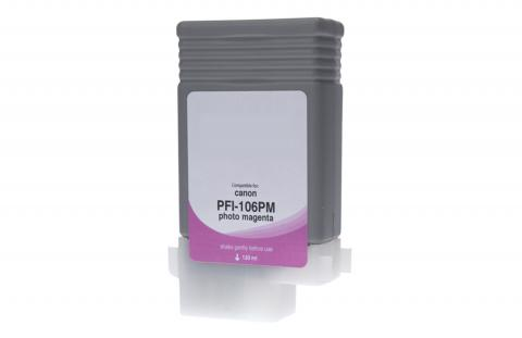 WF Non-OEM New Photo Magenta Wide Format Ink Cartridge for 6626B001AA (PFI-106PM)