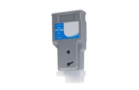 WF Non-OEM New Cyan Wide Format Ink Cartridge for 5304B001AA (PFI-206C)