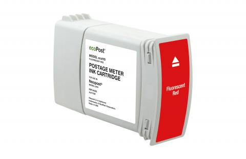 ecoPost Remanufactured Postage Meter Red Ink Cartridge for NeoPost 4127176R