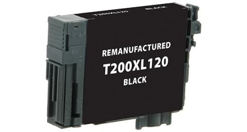 Epson Remanufactured High Yield Black Ink Cartridge for Epson T200XL120