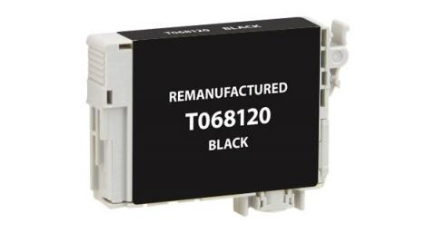 EPC Remanufactured High Yield Black Ink Cartridge for Epson T068120