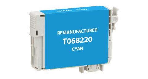 EPC Remanufactured High Yield Cyan Ink Cartridge for Epson T068220