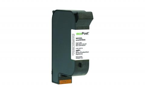 ecoPost Remanufactured Postage Spot Color Red Ink Cartridge for HP C6168A