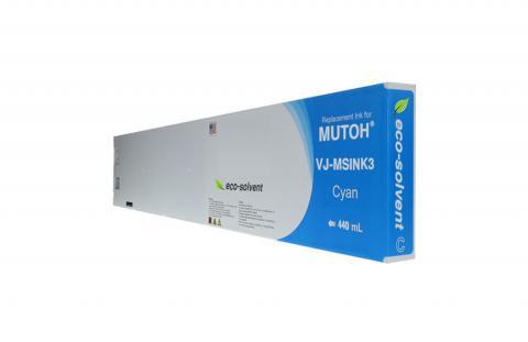 WF Non-OEM New Cyan Wide Format Inkjet Cartridge for Mutoh VJ-MSINK3-CY440