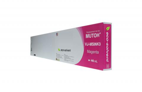 WF Non-OEM New Magenta Wide Format Inkjet Cartridge for Mutoh VJ-MSINK3-MA440