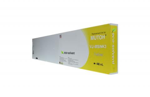 WF Non-OEM New Yellow Wide Format Inkjet Cartridge for Mutoh VJ-MSINK3-YE440