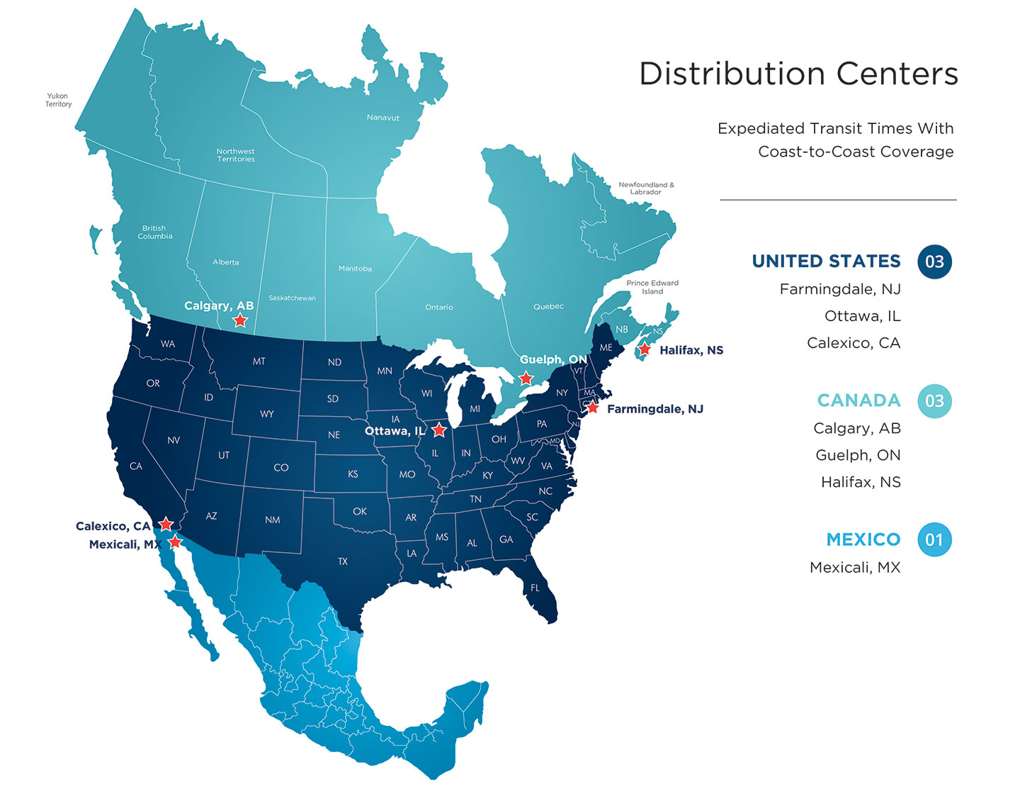 CLOVER DISTRIBUTION CENTERS - USA 1Regional warehouses for competitive ground service