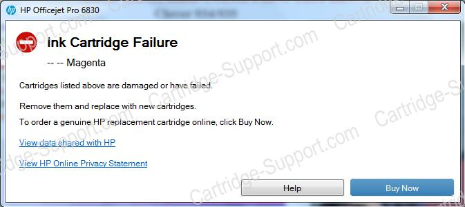 Ink Cartridge Failure